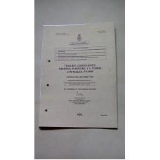 TRAILER CARGO BODY GENERAL PURPOSE 1.3/4 TON 2 WHEELED FV2409 OPERATING INFORMATION